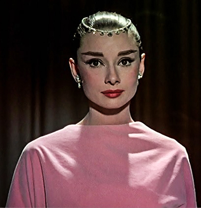 Audrey Hepburn wears a Cartier Necklace as a Tiara in the movie Funny face