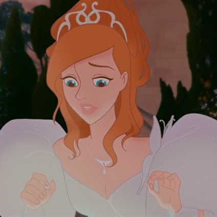 A Disney Princess wears a tiara in the movie Enchanted