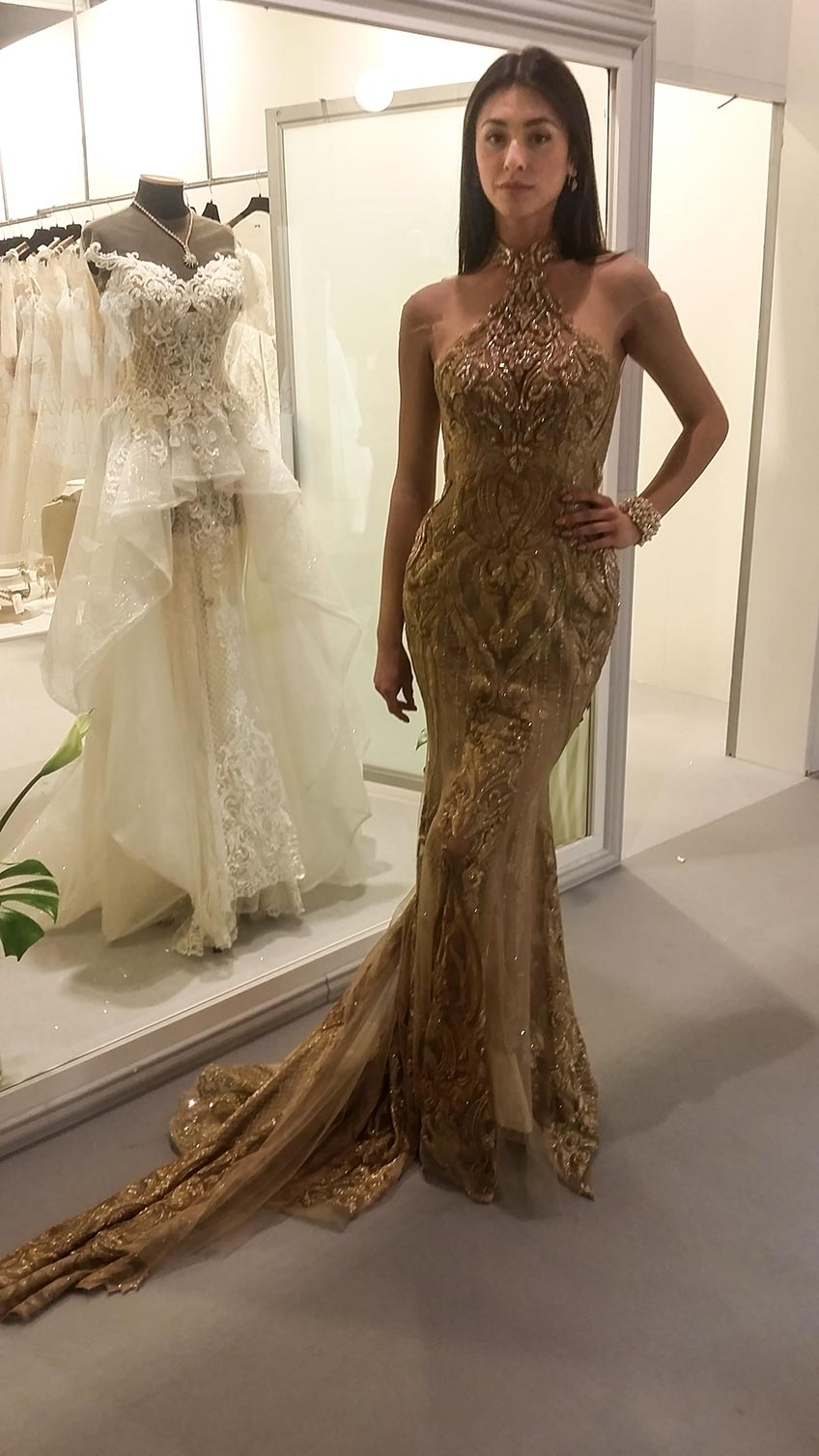 Betty Tran the dazzling Gold Gown