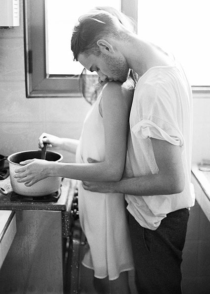 Couple love cooking