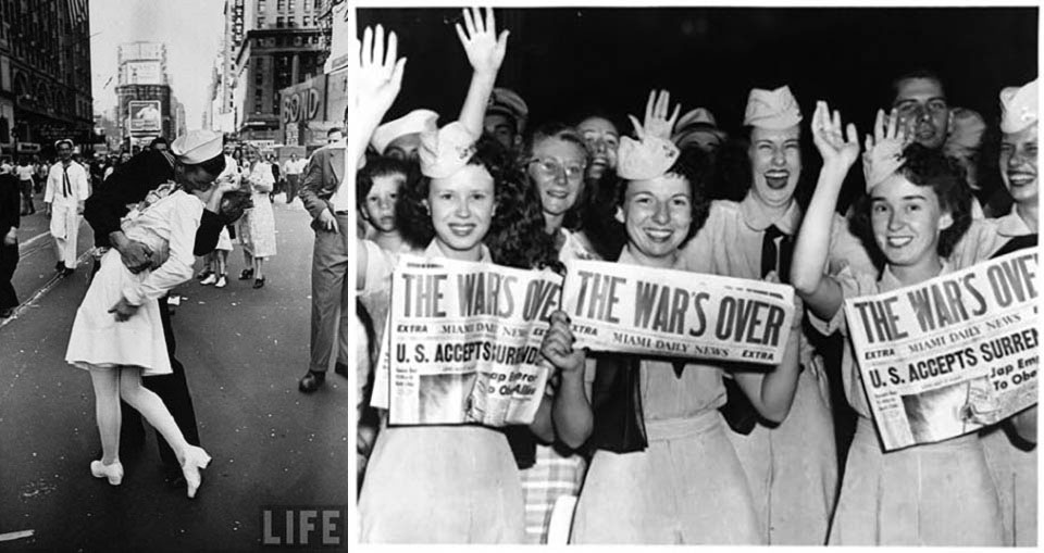 In September 2nd, 1945 war ends. Spirits up for wedding to be celebrated