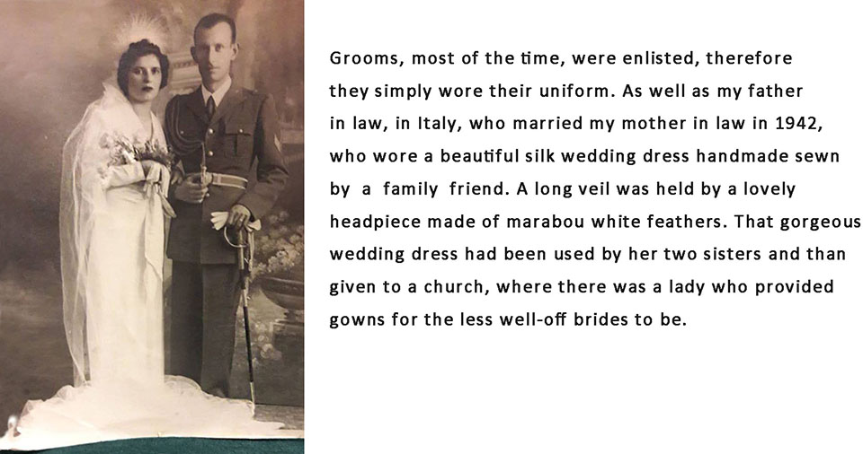 1940s war wedding grooms simply wore their uniforms