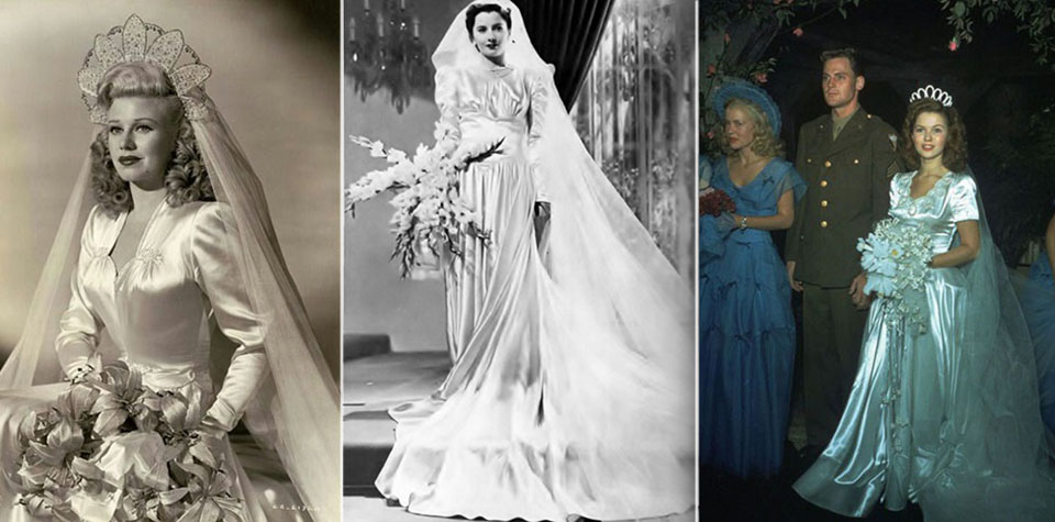 1940s celebrities weddings Ginger Rogers Barbara Stanwyck and Shirley Temple on real life and movies