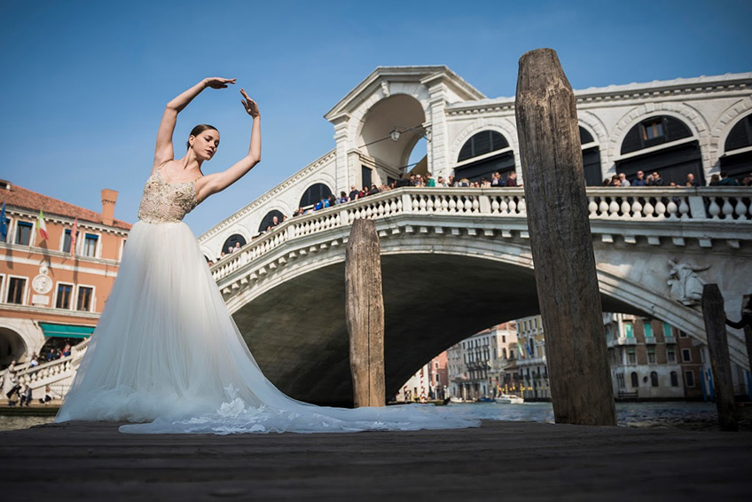 bride-to-be and ballet dancer in Venice