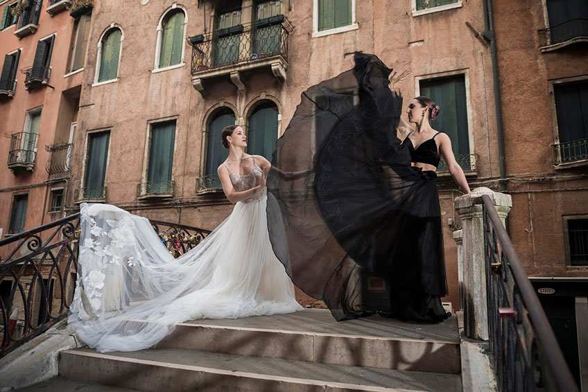 A show-stopping pre-wedding shooting gift in Venice