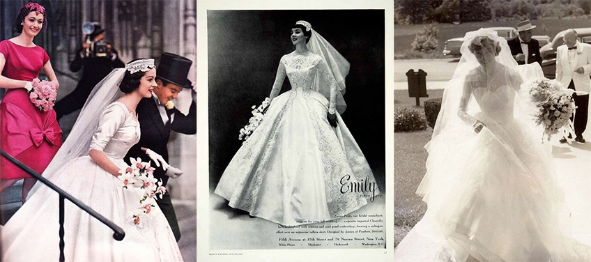 1950s brides and bridal style