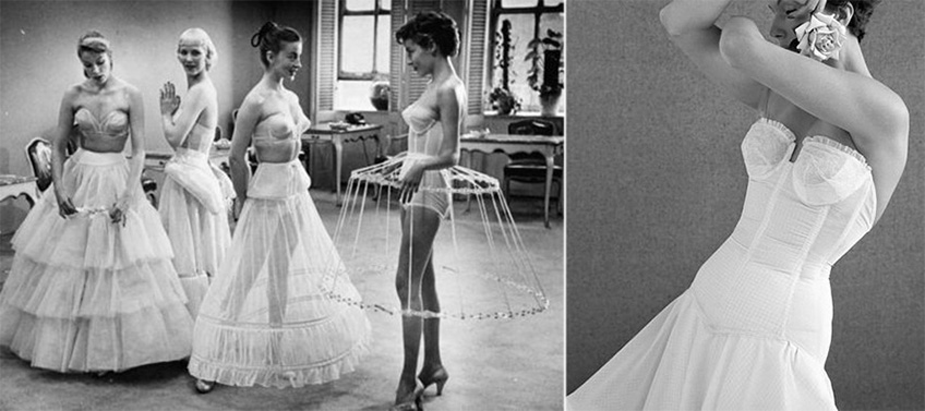 1950s brides bridal style and bridal undergarment