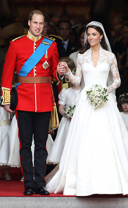 Princess Kate on her wedding day