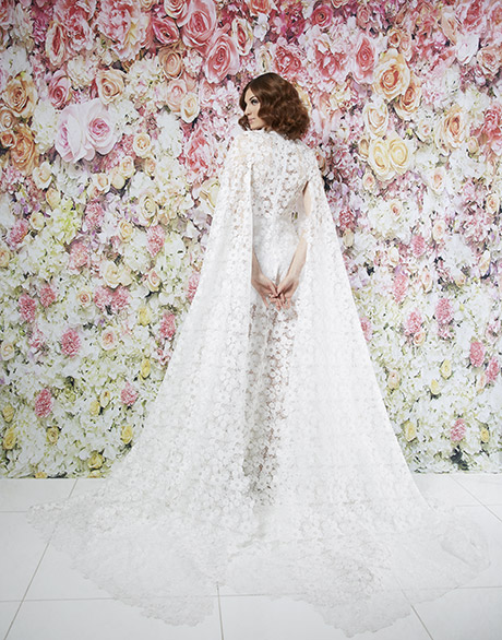 Randi Rahm Caped wedding gown