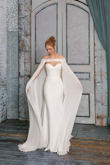 Justin Alexander Off-the-Shoulder Cape