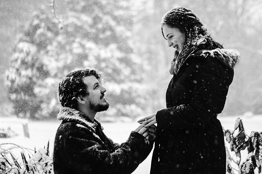 winter marriage proposal