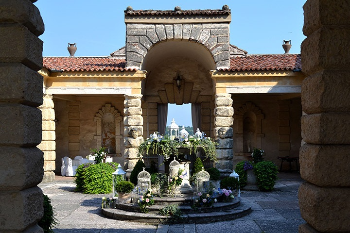 The peristyle of the Villa