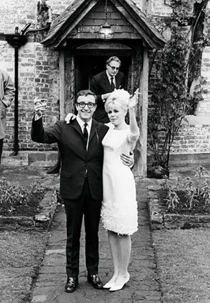 1969 Britt Ekland on her wedding to Peter Sellers