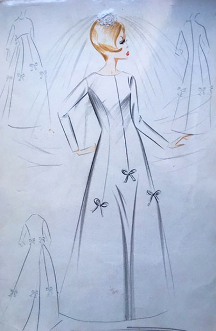 An original bridal sewing pattern of the sixties