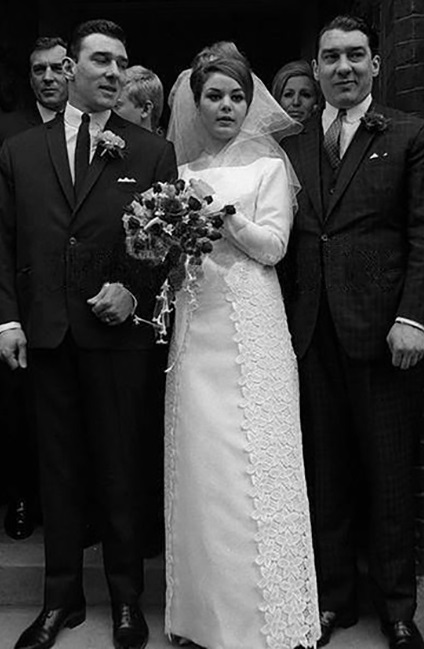 Frances Shea on her wedding day to the criminal Reggie Kray