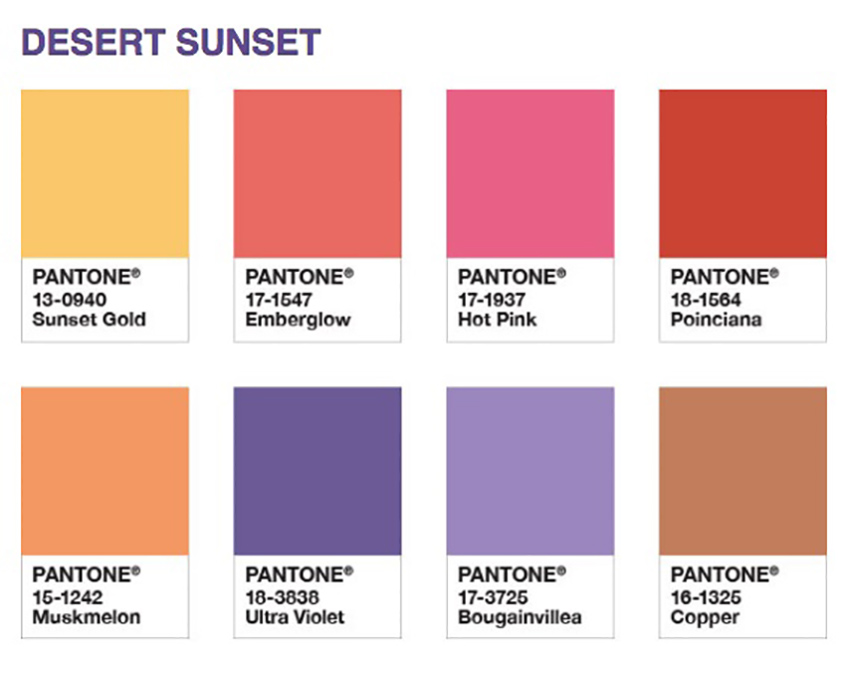 Pantone Ultraviolet Desert Sunset