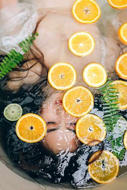 woman relax spa